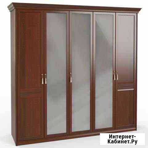 Шкаф 5 дв. (2+1+2) с зеркалами Псков