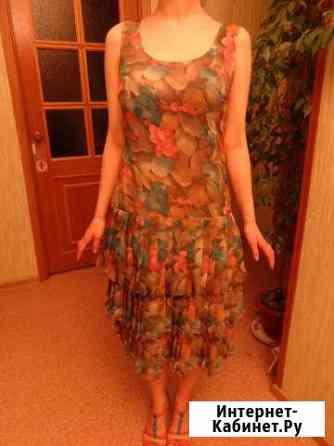Летнее платье - сарафан в цветах (новое) Астрахань