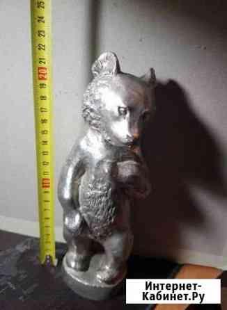 Медвежонок времен СССР белый металл Хабаровск