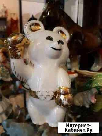 Фарфоровая статуэтка Олимпийский Мишка-боксер Тюмень