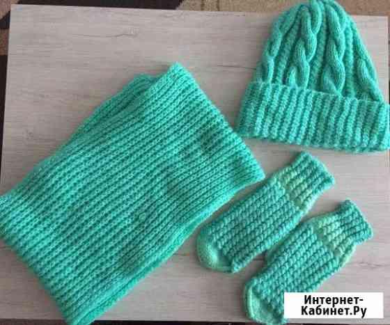 Комплект шапка, шарф, перчатки Нефтекамск