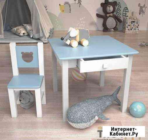 Детский столик с ящиком и стульчик Екатеринбург