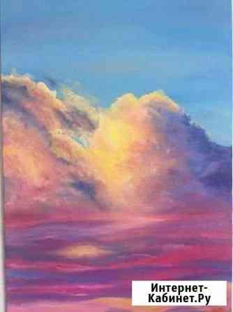Картина масло облака Астрахань