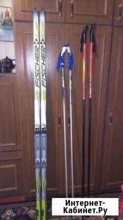 Лыжи fischer combi (в комплекте) Березники