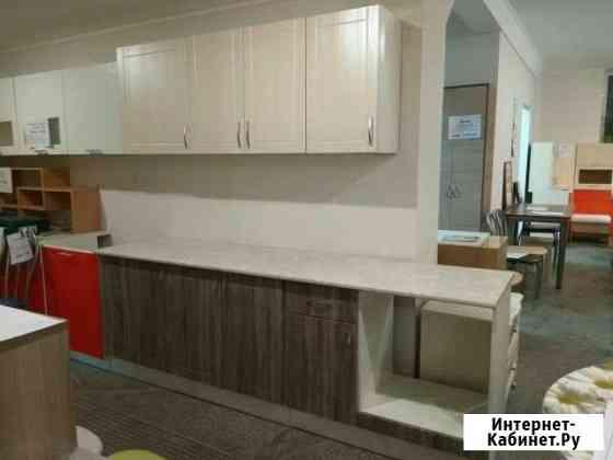 Кухонный гарнитур 2,4 м мдф с общей столешницей Екатеринбург