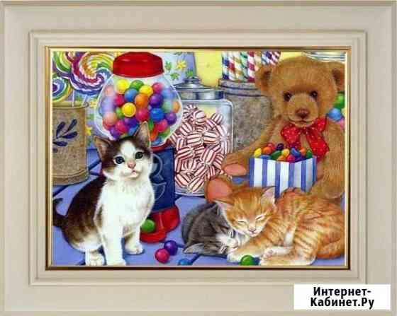 Картина раскраска Котята с леденцами Владимир