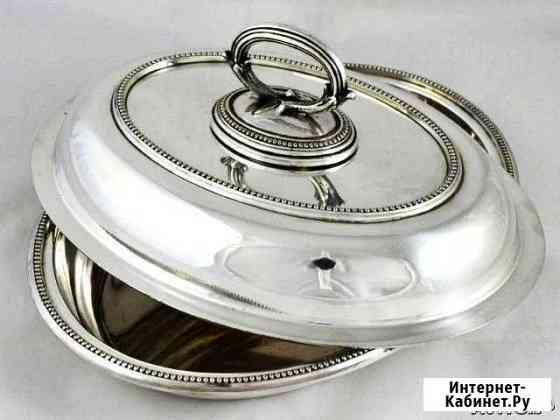 Антикварное блюдо серебрение Англия Elkington Москва
