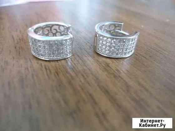 Серьги серебро 925 пробы Астрахань