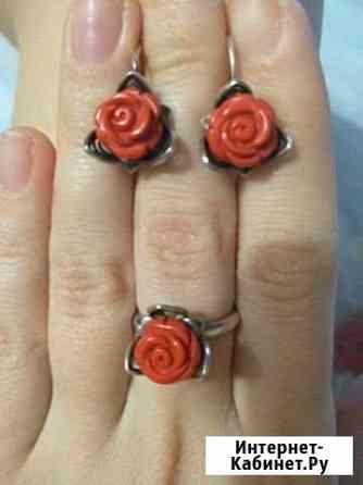 Серебро комплект (кольцо и серьги) Александров