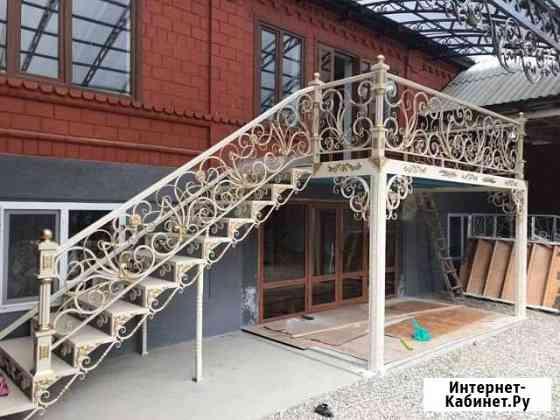 Кованые работы ворота перила козырек навес и.т.д Грозный