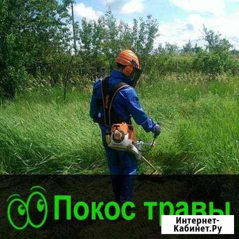 Скос,покос травы на участке Горно-Алтайск