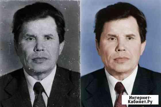 Реставрация фотографий, ретушь фото на памятник Йошкар-Ола