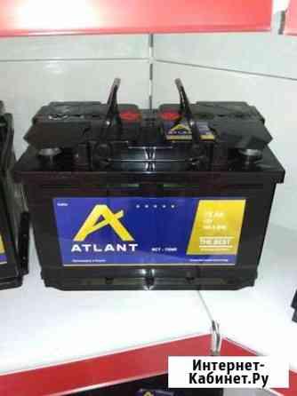 Аккумулятор Акб на Renault Logan 75 п.л а/ч Atlant Майкоп