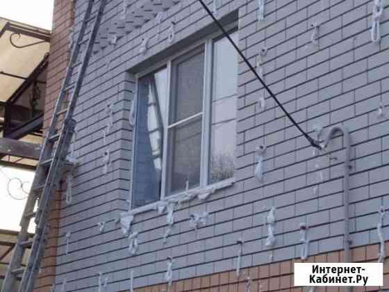 Утепление стен фасада зазоры Пеноизол чердак скаты Курск