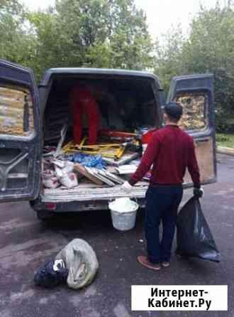 Вывоз мусора хлама газель паркинг Москва