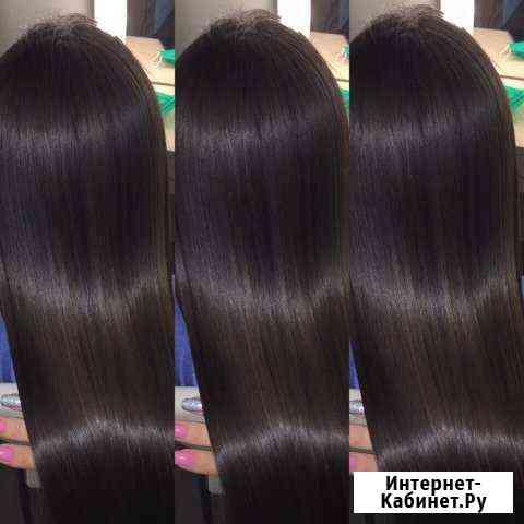 Кератиновое выпрямление волос,ботокс волос Видное