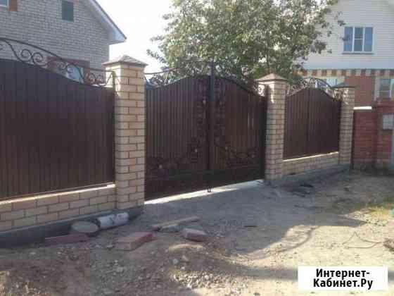 Ворота металлические с ковкой Южноуральск