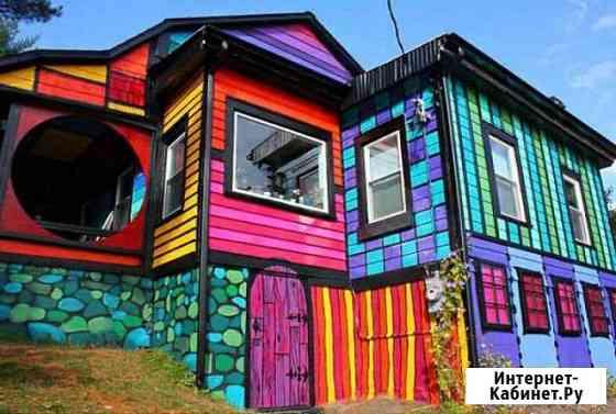 Покраска фасадов зданий. Обновление старой краски Чебоксары