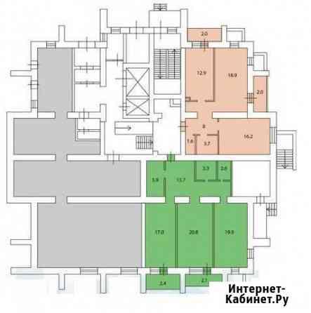 2-комнатная квартира, 83.2 м², 1/16 эт. Тольятти