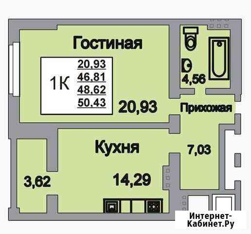 1-комнатная квартира, 52.4 м², 17/18 эт. Саратов