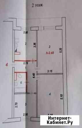 3-комнатная квартира, 61 м², 2/2 эт. Комсомольск