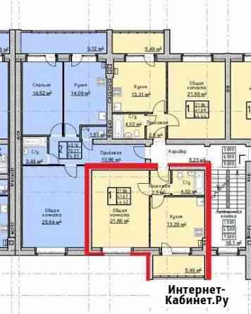 1-комнатная квартира, 44 м², 1/4 эт. Тамбов