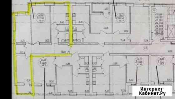 3-комнатная квартира, 73 м², 6/10 эт. Уфа