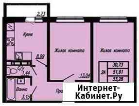 2-комнатная квартира, 54 м², 14/16 эт. Чебоксары