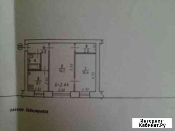 2-комнатная квартира, 42.9 м², 1/4 эт. Омск