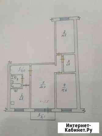 3-комнатная квартира, 60 м², 5/5 эт. Саянск