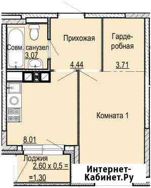 1-комнатная квартира, 32.2 м², 8/17 эт. Ижевск