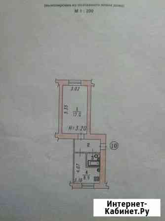 1-комнатная квартира, 34 м², 2/3 эт. Омск