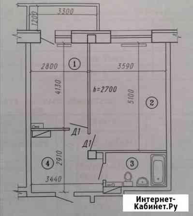 2-комнатная квартира, 43 м², 7/9 эт. Омск