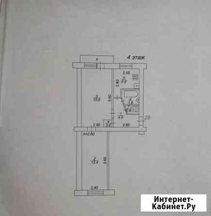 2-комнатная квартира, 43 м², 4/5 эт. Лихославль