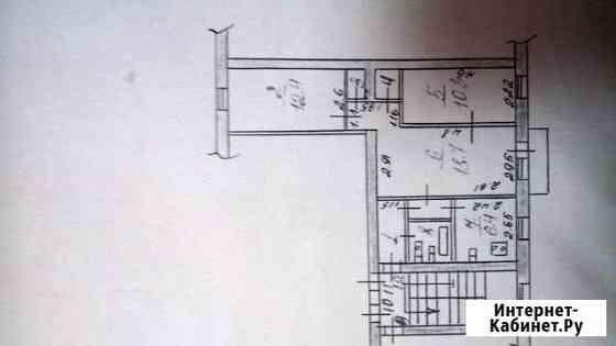 3-комнатная квартира, 57.3 м², 3/4 эт. Невинномысск