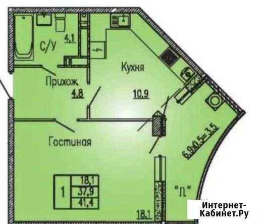 1-комнатная квартира, 42 м², 23/23 эт. Ростов-на-Дону