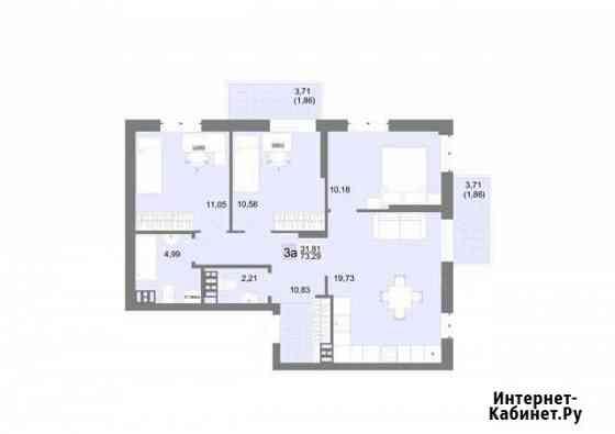 3-комнатная квартира, 73.3 м², 4/20 эт. Екатеринбург