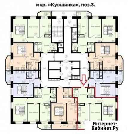 2-комнатная квартира, 61 м², 4/24 эт. Чебоксары