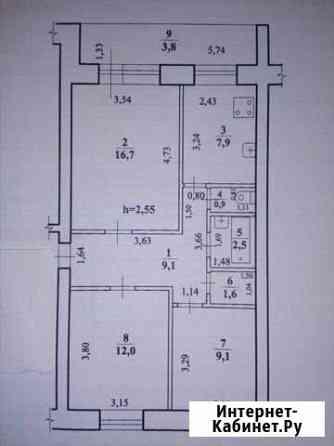 3-комнатная квартира, 64 м², 3/5 эт. Чита