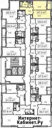 1-комнатная квартира, 45.5 м², 10/25 эт. Москва