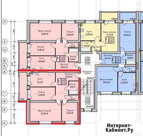 3-комнатная квартира, 83 м², 4/4 эт. Тамбов