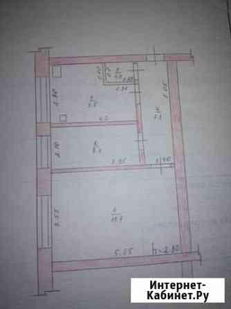 2-комнатная квартира, 46 м², 2/2 эт. Калачинск