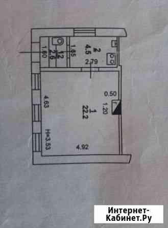1-комнатная квартира, 29.9 м², 1/1 эт. Ростов-на-Дону