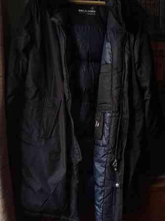 Пальто пуховое мужское черное, с капюшоном Sela.52/54 Санкт-Петербург