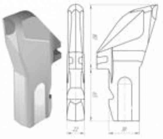 Абразивоустойчивый Резец ЗР4-80 буровой установки с победитовым наконечником Челябинск