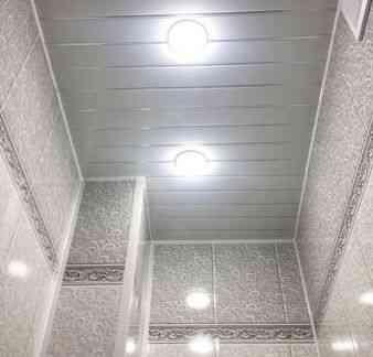 Отделка санузла панелями пвф-альтернатива плитке Хабаровск