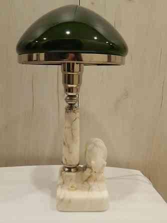 Лампа настольная Медведь. Зеленый и белый плафон Владимир