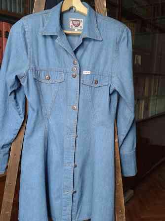 Платье джинсовое мини, темно-голубое. (S) Деним Санкт-Петербург