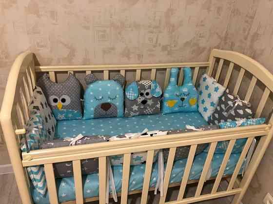 Новые бортики в кроватку, подушки Новосибирск