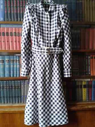 Платье из шотланки, миди. 42-44 р Санкт-Петербург